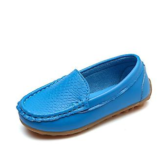 Kids Shoes, Candy Colors Unisex Soft Loafers, Slip-on Leather Shoes