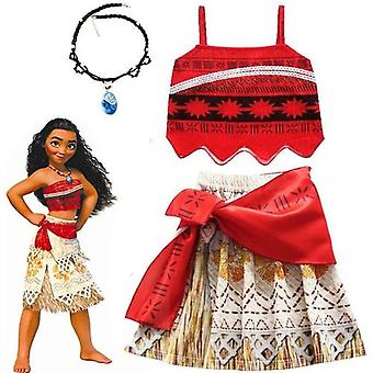 2020 Moana Cosplay Costume Princess Dress With Necklace