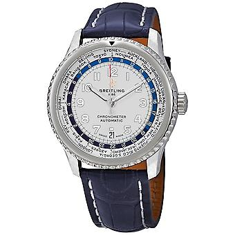 Breitling Navitimer 8 Unitime Automatic 43 mm Silver Dial Men's Watch AB3521U01G1P2