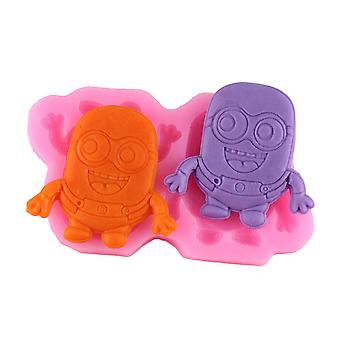 Minions Despicable Me Cartoon Silicone Fondant Mold Dry Pace Mode Sugar Art Embossed Mode