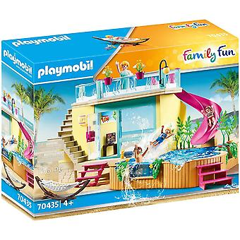 Playmobil Family Fun Bungalow med poollekset