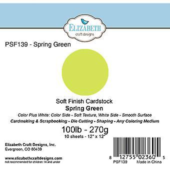 Elizabeth Craft Designs - Soft Finish Cardstock Spring Green