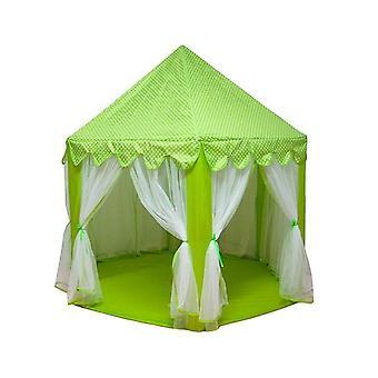 3 PCS Kannettavat lapset Princess Girl Castle Teltta Leikki talo Lapset Pieni Taittuva Baby Beach Teltta talo (vihreä)