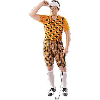 Orion kostymer mens orange pub Golf sport stag natt kul fancy Dress kostym