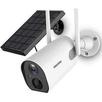 HanFei berwachungskamera Aussen mit AKKU 10400mAhIP Kamera mit Solarpanel WLAN 1080P Kamera fr