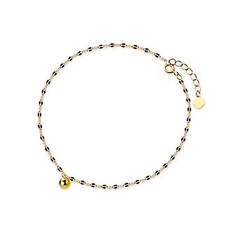Genuine 925 Sterling Glossy Beads Anklet