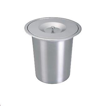 Stainless Steel Countertop Bench Top Mount Waste Trash Containers Bin