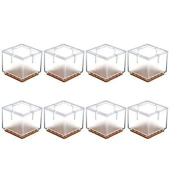 Fyrkantiga silikon benskydd täcker strumpor golvskydd möbel stol bord
