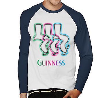 Guinness On Neon Tap Men's Baseball Long Sleeved T-Shirt