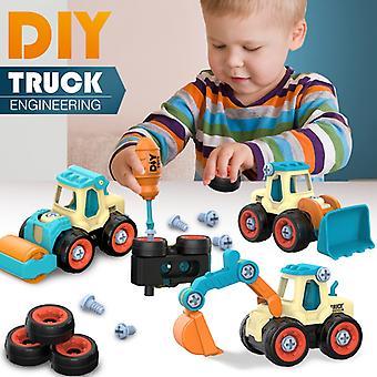 Nut Disassembly Loading Unloading Engineering Truck Excavator Bulldozer Kids Screw Boys Creative Tool Education Toys Car Model