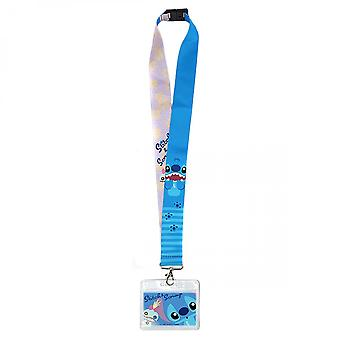 Disney Lilo and Stitch Character ID Card Holder Lanyard