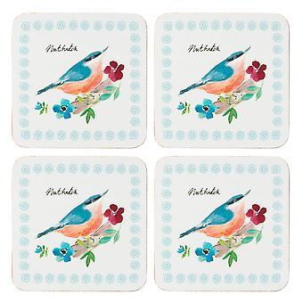 الإنجليزية Tableware شركة حديقة الطيور مجموعة من 4 الوقايات