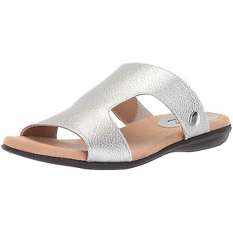 LifeStride Womens Baha Open Toe Casual Slide Sandals