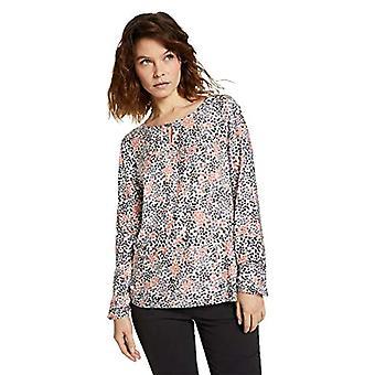 Tom Tailor 1024003 Alloverprint T-Shirt, 26283 White Multicolor flower design, XL Women