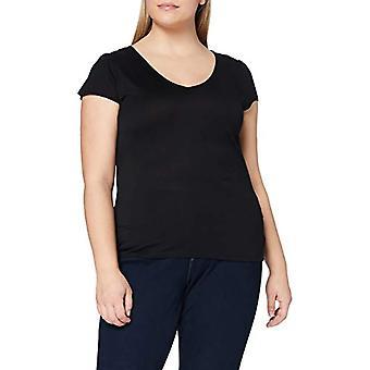 Naf Naf MATIS MC T-Shirt, Black (Noir 625), Small Woman