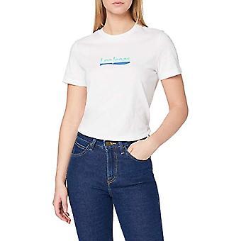 Lee Slim Logo Tee T-Shirt, White, M Woman