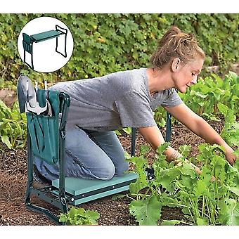 Foldable Kneeling Dual-purpose Garden Knee Pads/ Stool With Double Pocket