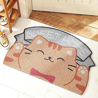 New dogs cat shape Doormats Anti slip Floor Irregular Carpet For Entrance Kitchen Bathroom Mat