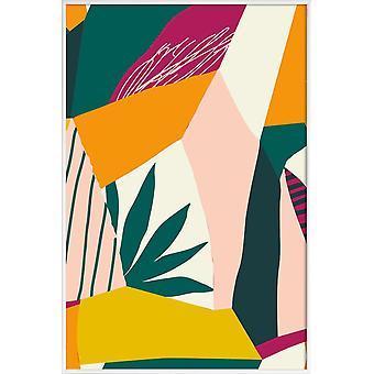 JUNIQE Print - Peekaboo - Posters abstraits et géométriques en jaune & vert