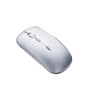 Bluetooth cinza e mouse sem fio recarregável de 2,4ghz x4191