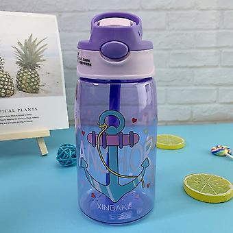 Creative Cartoon Kids Water Sippy Cup With Straws Leakproof Water Bottles Outdoor Portable Children's Cups