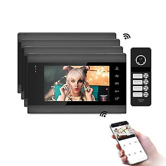 Smart Phone 7 '' Wifi Wireless Video Intercoms For Home  Indoor Monitor