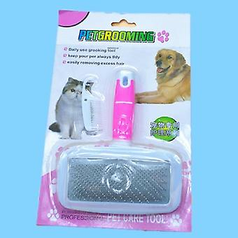 Pet Needle Combs With Non-slip Handle Small Medium Dog Hair Brushes Hair