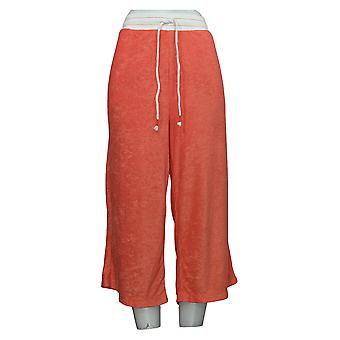Cuddl Duds Women's Pants Pull On Cropped Leg Pink A346878