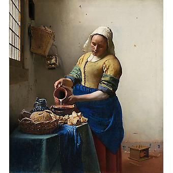 The Milkmaid,johannes Vermeer Art Reproduction.baroque Style Modern Hd Art Print Poster,canvas Prints Wall Art For Home Decor Pictures (unframed)