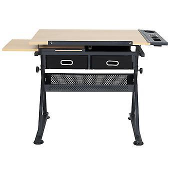 Zeichentisch mit verstellbarem Zeichenbrett und 2 Schubladen