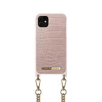 iDeal de Suecia iPhone 12 Pro Max Collar Caso Misty Rose Croco