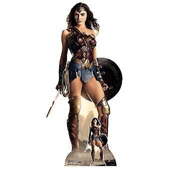 Wonder Woman Justice League Shield Lifesize Cardboard Cutout / Standee / Standup
