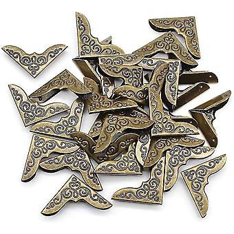 Eu 40 Pieces Retro Book Corner Protectors Bronze Metal Protectors
