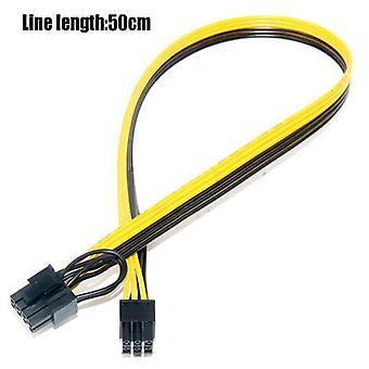 50CM 6P Mannelijke aan 6+2 Mannelijke Kabel 6P Grafische Kabel 6+2 Grafische Kabel 18AWG