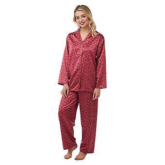 Camille Womens Bedrukte Pyjama Set Met Lange Mouwen Roze