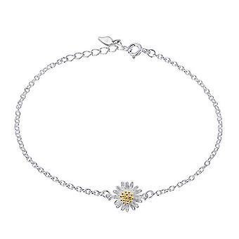 2PCS Silver plating Trendy Fresh Summer Little Daisy Sun Flower Bracelet Female Gift bracelets &