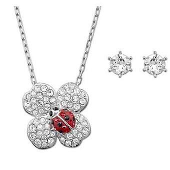 Swarovski jewels necklace & earrings set ladybird 5086250
