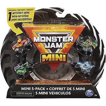 Monster Jam Official Mini Collectible Monster Trucks 5-Pack with 1 Mystery Truck