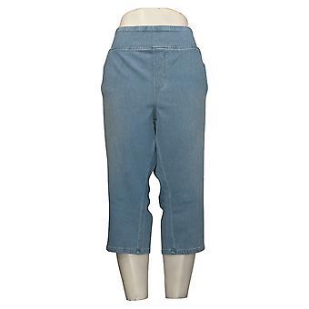Belle av Kim Gravel Dame Petite Bukser Flexibelle Capri Jeans Blå A351075