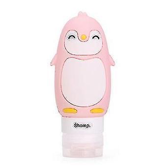 90ml Niños y adultos multiusos al aire libre viaje sub-botella de silicona para champú, jabón (rosa)