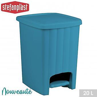Square Home Kitchen Pedal Bin 20L Turquoise