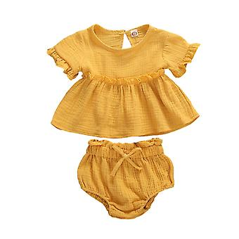 Pasgeboren baby baby kleding sets korte mouw T shirts tops + shorts outfits pak