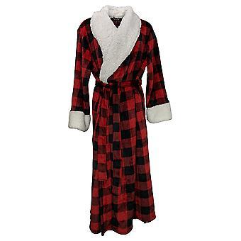 Soft & Cozy Women's Tie Front Velvet Robe Red 670932