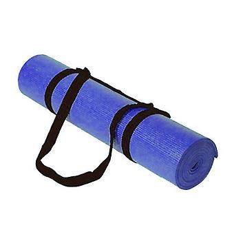Kabalo - 183cm lång x 61cm brett - halkfri yogamatta med bärrem, också för träning / Gym / Camping, etc (blå)
