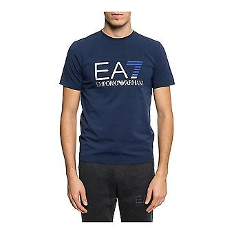 Men's Short Sleeve T-Shirt Armani Jeans 6ZPT21 PJ20Z C1554 Navy