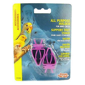 עולם חי מחזיק לכלובי ציפורים - פלסטיק - מחזיק לכל מטרה