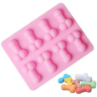 Taca Sexy Penis Cube Cake Mold Silikonowa forma świeca formy Sugar Craft Tools Czekolada Lód