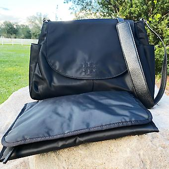 Tory burch thea nylon travel baby messenger crossbody diaper bag black