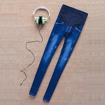 Schwangere Frauen Stretchy Cotton Jeans Denim Pencil Pants Umstandshose