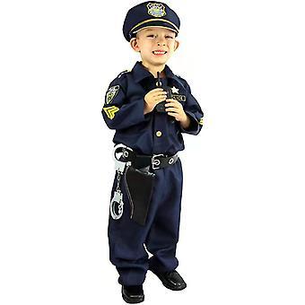 高級警察官の衣装とハロウィーンのロールプレイングキット。